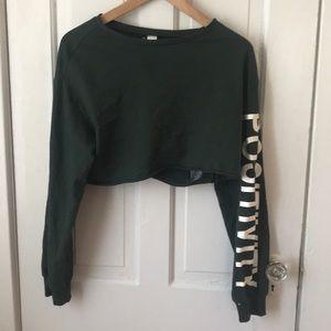 Forest green long sleeve positivity shirt